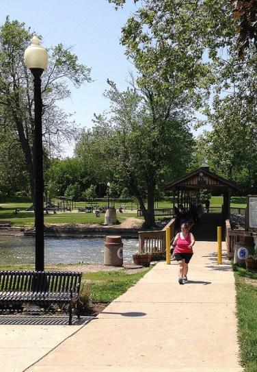 Covered bridge in Flatrock's Huroc Park