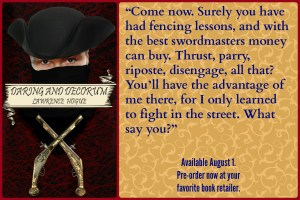 Book meme for Daring and Decorum, available August 1. Click through for more details!