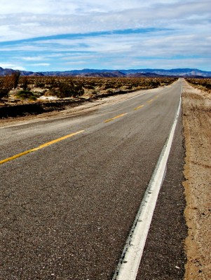 Highway outside Ocotillo CA