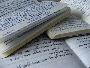 Photo of writing journals