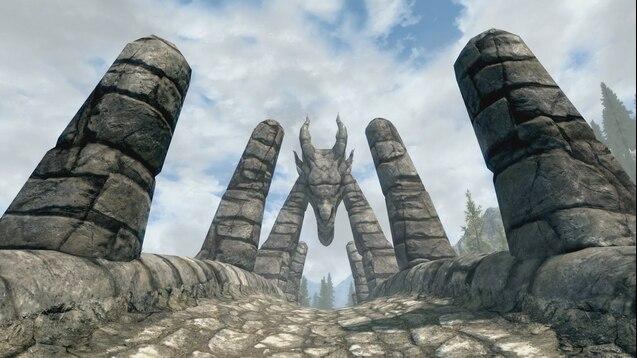 Pic of Dragon Bridge in Skyrim