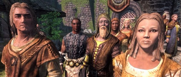 Pic of a crowd in Skyrim