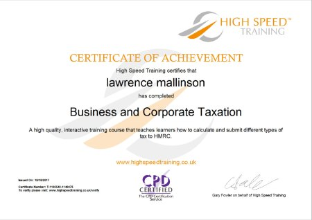 Business and Corporation Taxation