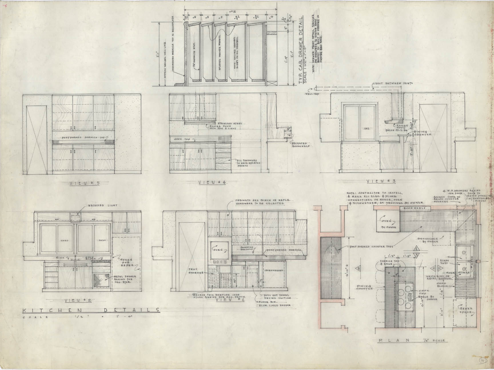 New Kitchen Cabinet Architectural Drawings (click Images To Expand) « Lawrence