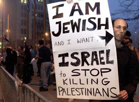 A Jewish Protesting Against Israel Killing Palestinians (courtesy of Lawrence of Cyberia)
