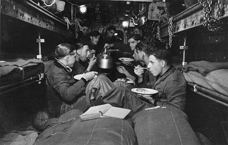 The bow room while outbound from France
