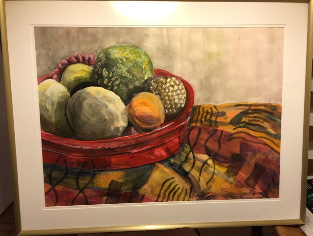 Susanne Camp, still life painting, objects from nature