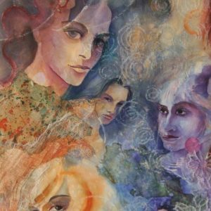 Diane Krempa, Hear Our Voices, wc, 27x36, $450