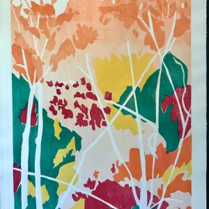 "Gerald Mulka, ""Summer Time"", wood block print, 18x14, $150"