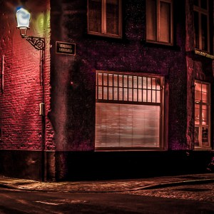 "Arnold Berkman, ""Night, Bruges Belgium"", Photography, 24 x 16, matted and framed, $300"