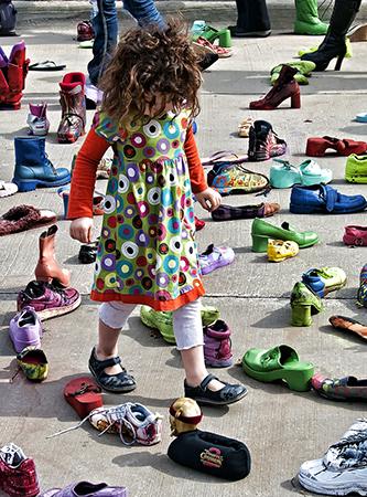 "J. Gordon Rodwan, ""Shoe Maze"", photograph, 20x24, $300"