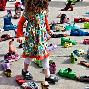 "J. Gordon Rodwan, ""Shoe Maze"", photograph, 20x24, $300"