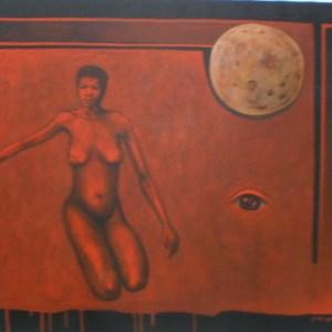 """Gary Van Gorp, """"Kneeling Nude"""", Acrylic, 24 x 30, $280"""