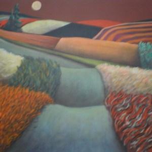 "Gary Van Gorp, ""Quilt Patch Road"", Acrylic, 24 x 30, $400"