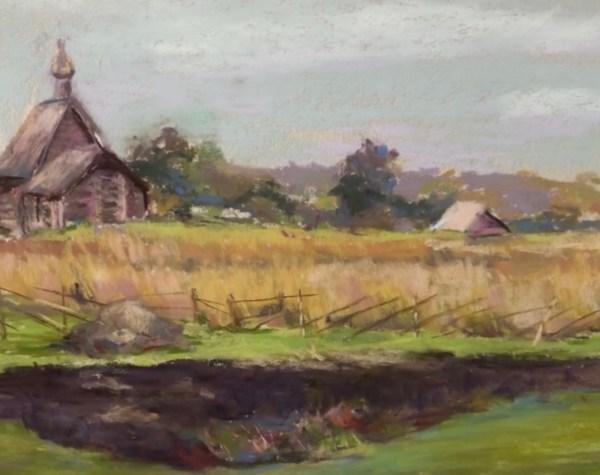 """Kathy Troshynski, """"Nebraska in Summer"""", Pastel, 9 x 12, $75"""