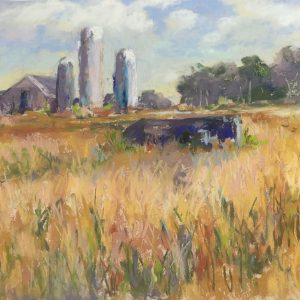 "Kathy Troshynski, ""Nebraska Afternoon"", Acrylic, 9 x 12, $125 with frame"