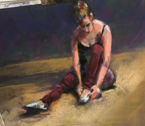 "Kathy Troshynski, ""After the Dance"", Pastel, 9 x 12, $75"