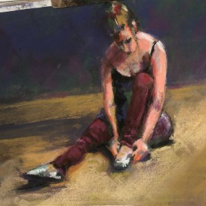 "Kathy Troshynski, ""After the Dance"", Pastel, 9 x 12, $75"