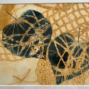 """Sherry Adams Foster, """"Nature's Connection"""", monotype, 17 1/2x21 1/2, $150"""