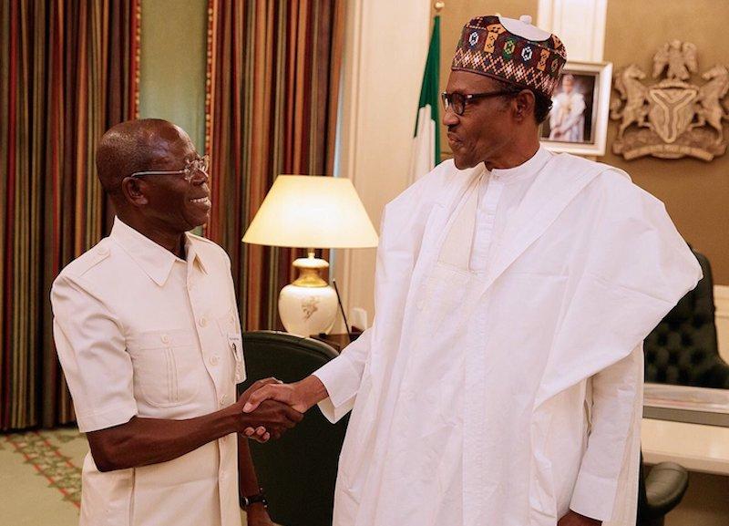 Legal Tussle: Oshiohmole updates President Buhari, says God will see him through