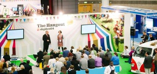 Lawrie Phipps and Sarah Davies presenting at Jisc Digifest