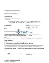 Form 14-10 Temporary Guardianship Letters - Idaho Forms ...