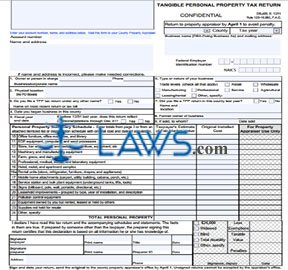 Form DR405 Tangible Personal Property Tax Return