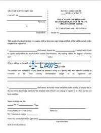 Form SCCA458A Application and Affidavit Registration of ...