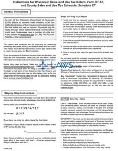 Form st wisconsin sales and use tax return schedule ct coutny also rh legal formsws
