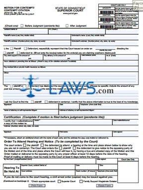 Form JDFM173 Motion for Contempt  Connecticut Forms   Lawscom