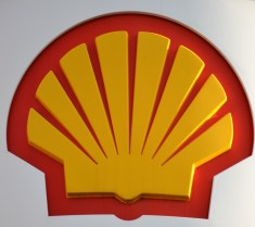 Shell petro sign close up