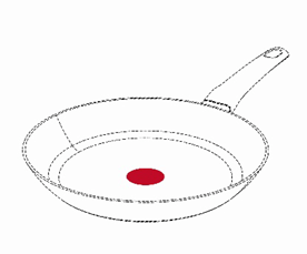 Tefal pan. The image is from the report of proceedings that Tefal supplied as a description of their trade mark application.
