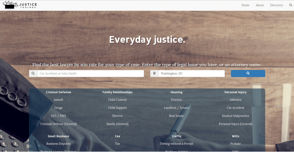 Justice Toolbox Lets People Pick Lawyers Based On Win Rates Lawsites
