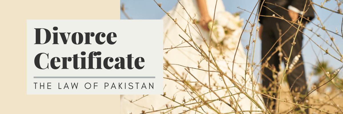 Divorce certificate in Pakistan