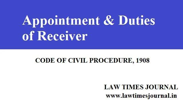 Receiver under The Code of Civil Procedure (CPC), 1908