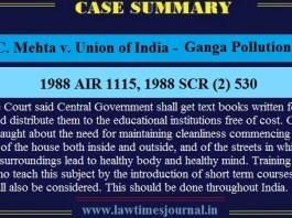 Ganga Pollution Case