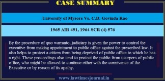 University of Mysore Vs. C.D. Govinda Rao