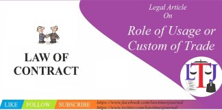 Role of Usage or Custom of Trade in Law of Contract