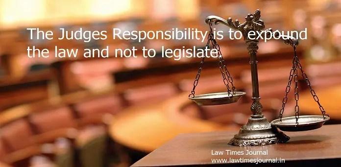 judges responsibility