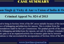 Vikram Singh @ Vicky & Anr vs Union of India & Ors