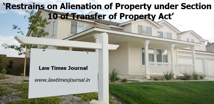 restrain on alienation of property