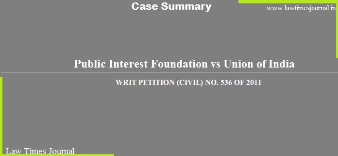 Public Interest Foundation case