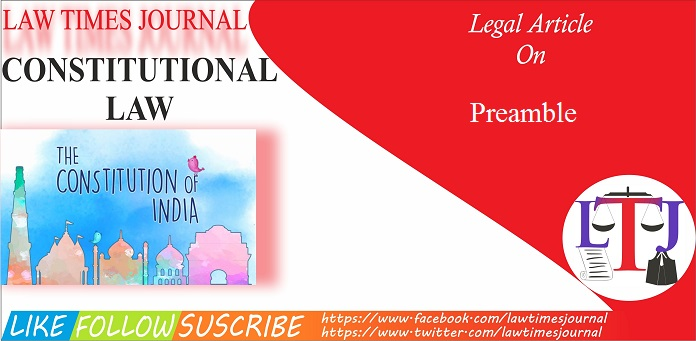 The Preamble of Indian the Indian Constitution