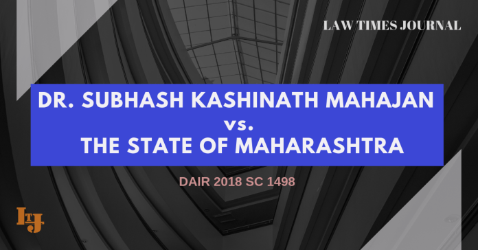 Dr. Subhash Kashinath Mahajan vs. The State Of Maharashtra