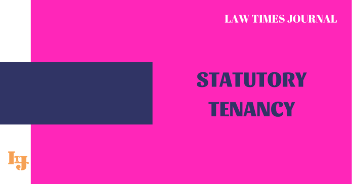 Statutory Tenancy