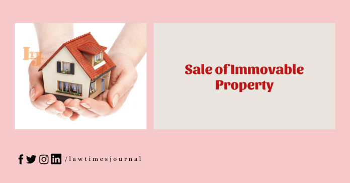 Sale of Immovable Property