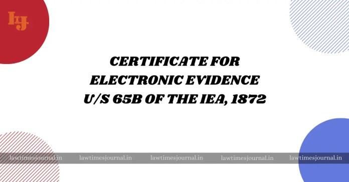 electronic evidence