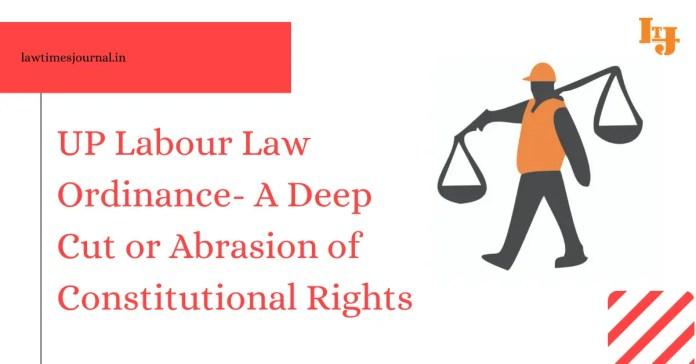 UP Labour Law Ordinance