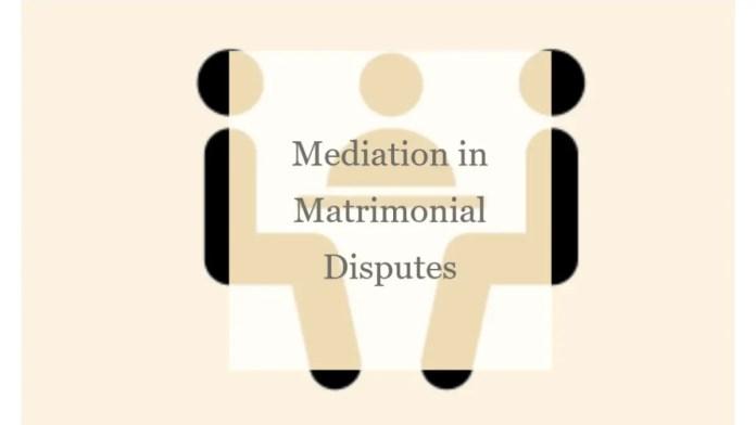 Mediation in Matrimonial Disputes