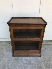3/4 wide ( 25 inch ) Antique Lawyer / Barrister Bookcase